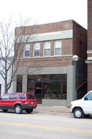 two story commercial building in brick