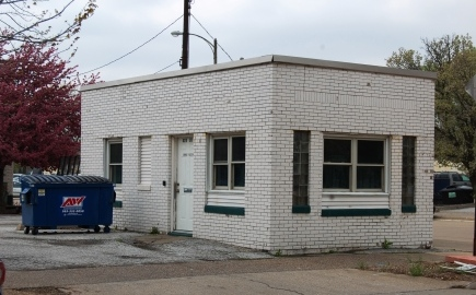 one room commercial building in brick