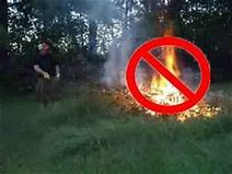 Please do not burn yard waste